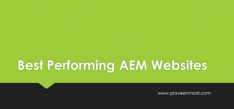 AEM Best Performing Websites